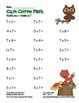 """Cute Critter Math"" Multiply 7 Common Core Multiplication"