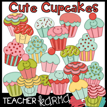 Cute Cupcakes with Smiley Faces (50% off today)