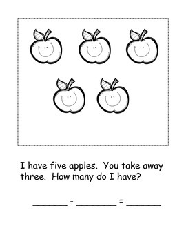 Cute Differentiated Subtraction Book