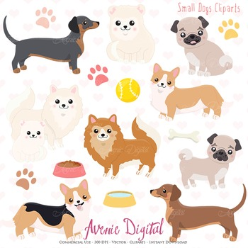 Cute Dog Clipart. Scrapbook printables, Vector and png Pup