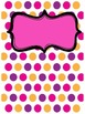 Cute Editable Polka Dot Binder Covers