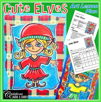 Christmas Art Activity and Lesson Plan for Kids: Cute Elve
