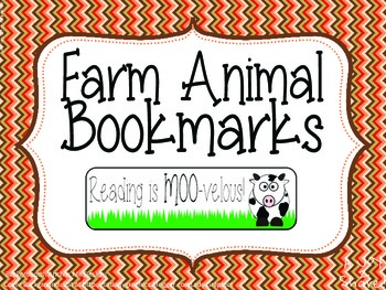 Cute Farm Animal Bookmarks