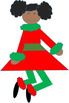 Cute Festive Girls Clipart for Christmas or Winter Holidays