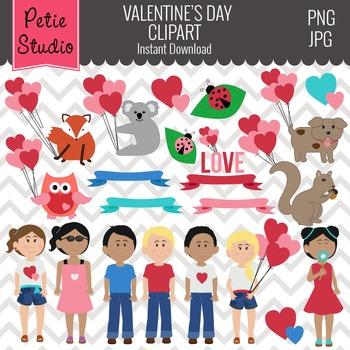 Valentine's Day Clipart // Valentine Kids Clipart // Heart