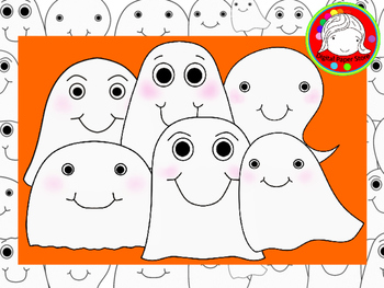 Cute Ghosts Clipart (Personal & Commercial Use)