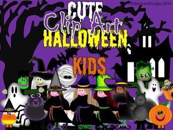 Cute Halloween Kids Clip Art