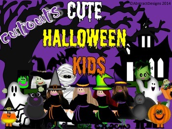 Cute Halloween Kids Cutouts