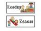 Cute Kids Class Schedule Cards