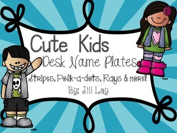 Cute Kids Desk Name Plates