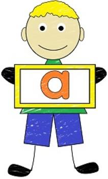 Cute Kids Lower Case Clipart Letters Aa thru Zz