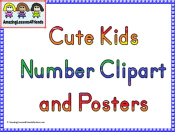 Cute Kids Number Clipart and Posters