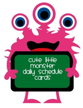 Cute Little Monsters Daily Schedule