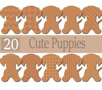 Cute Little Puppies Clip Arts