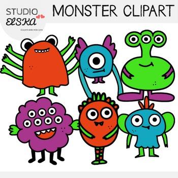 Cute Monster Clipart - Studio ELSKA
