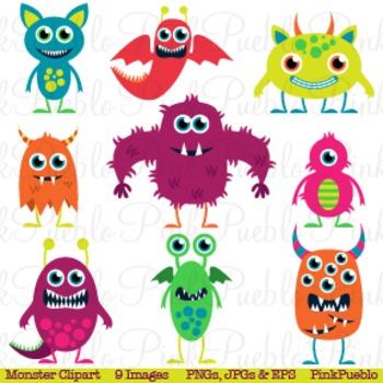 Cute Monsters Clip Art Clipart Aliens Clip Art Clipart - C