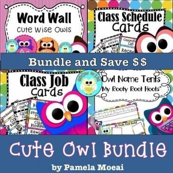 Back to School Editable Cute Owls Bundle!!