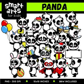 Cute Panda Digital Clipart