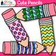 Cute Glitter Pencil Clip Art {Back to School Supplies for