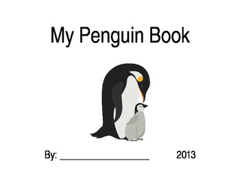 Cute Penguin Book Cover page for students