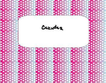 FREE Cute Pink, Purple, and Blue Teacher Planner/Calendar