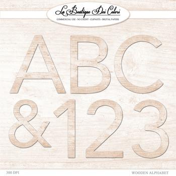 Cute Wood Grain Alphabet Clipart