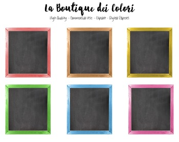 Cute Colorful Framed Chalkboard clipart