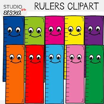 Cute Rulers Clipart FREEBIE