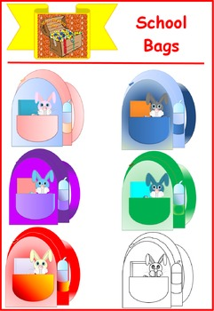 Cute School Backpack Clipart