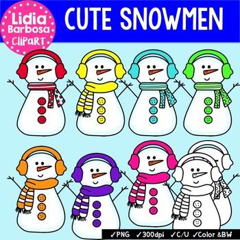 Cute Snowmen { Clip Art for Teachers }