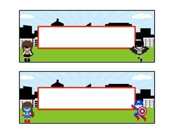 Cute Superhero Nameplates