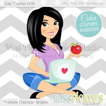 Cute Teacher 008, Teacher Avatar- Commercial Use Character
