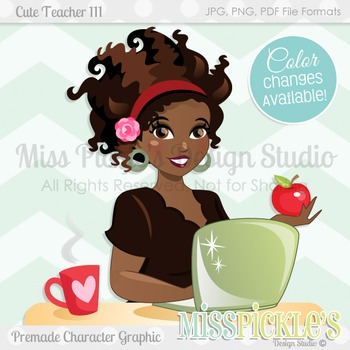 Cute Teacher 111, Teacher Avatar- Commercial Use Character
