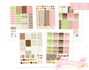 Cute Woodland Animals Printable Weekly Planner Stickers fi