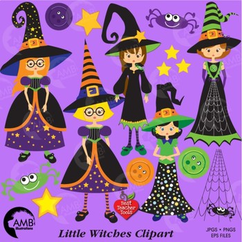Halloween witches clipart - AMB-214