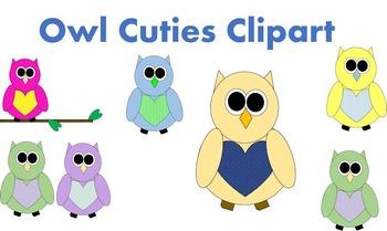 Cutie Owl Clipart Freebie