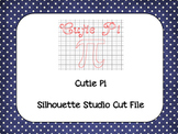 Pi Day 'Cutie Pi' {Silhouette Cut File}
