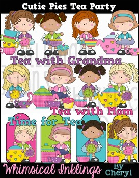 Cutie Pie Tea Party Clipart Collection