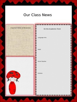 Cutie Red and Black Mushroom Newsletter Template
