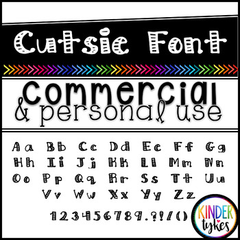 Cutsie Font by Kinder Tykes for Personal & Commercial Use