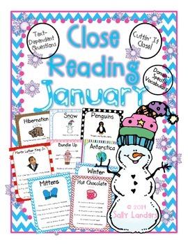 Cuttin' It Close! January Close Reading Pack  {Kindergarte