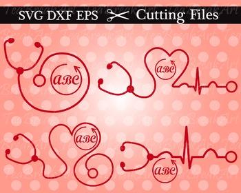 Cutting Files -Stethoscope- Digital Clipart