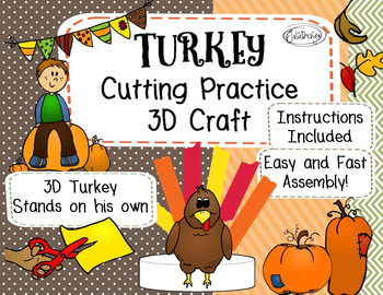Cutting Practice Thanksgiving Turkey Craft