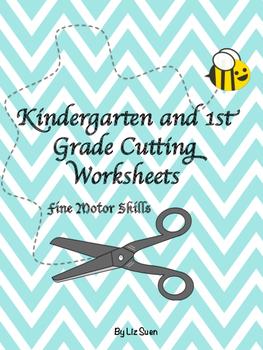 Cutting Practise Worksheets- Kindergarten to 1st Grade