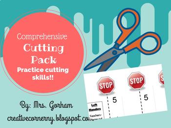 Cutting Skills Pack- Cutting Practice for Beginning Scissor Users