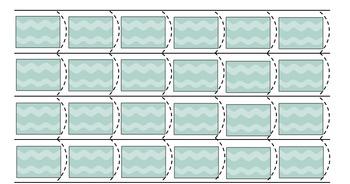 Cutting Strips Template ~ Custom ~ Montessori Cutting Stri
