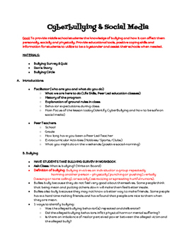 Cyber Bullying and Social Media - Middle School