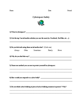 Cyberspace Safety Worksheet
