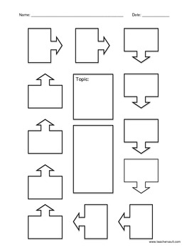 Cycle, Sequence of Events, Cause and Effect Graphic Organizer