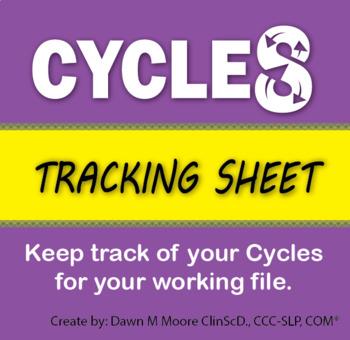 Cycles Tracking Sheet